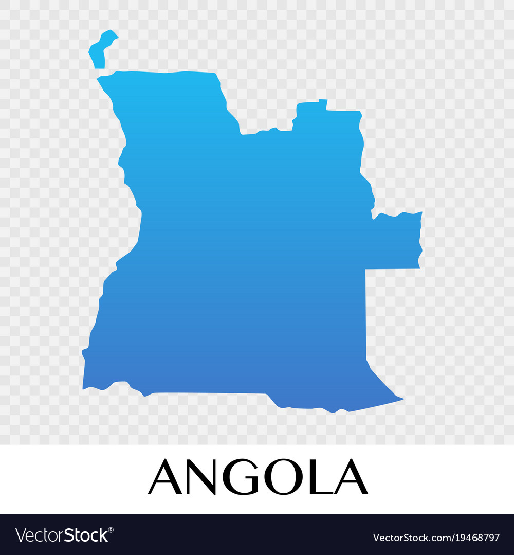 Africa Map Angola.Angola Map In Africa Continent Design Royalty Free Vector