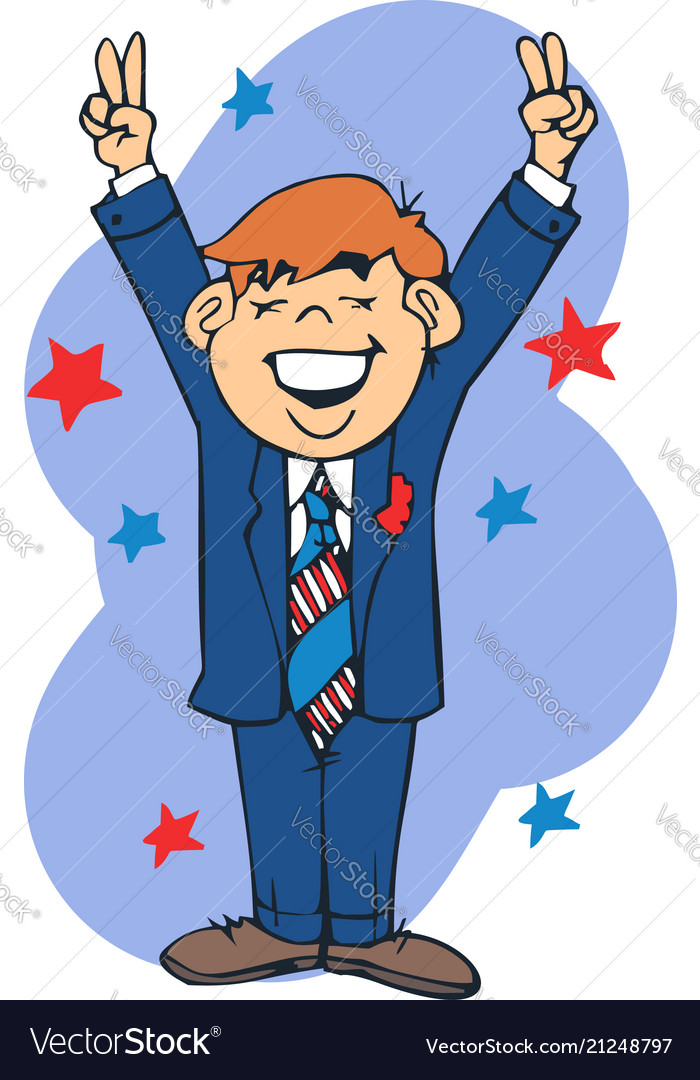 Businessman happy cartoon
