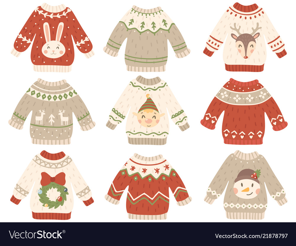 Cute christmas jumper xmas ugly sweater with