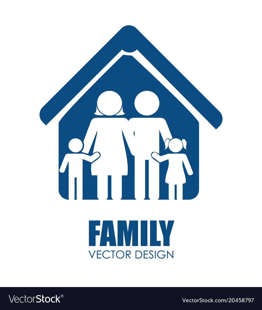 Family Unity Design Royalty Free Vector Image Vectorstock
