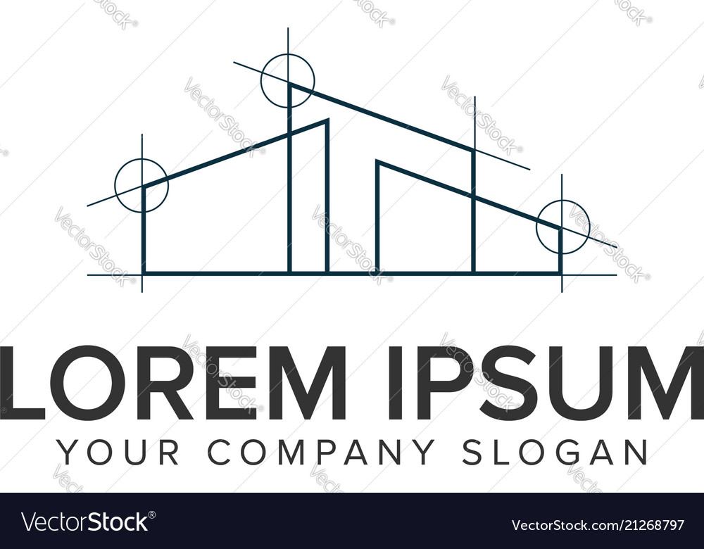 Home architect design logo design concept template