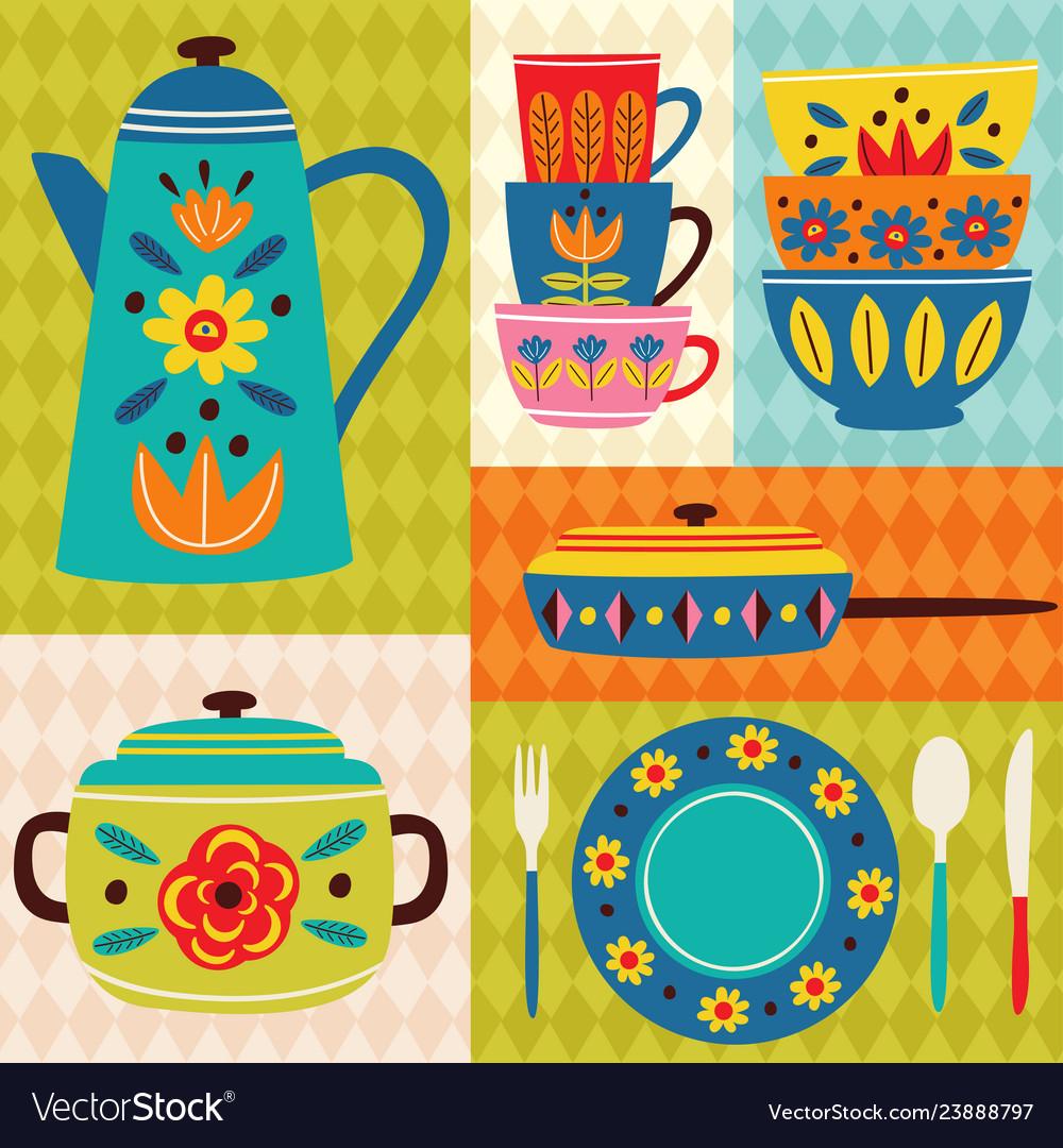 Poster vintage kitchen