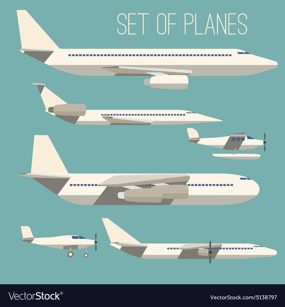 Set of flat planes