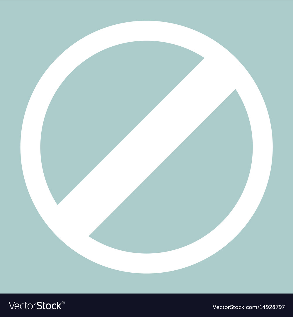 Sign entry prohibited the white color icon vector image