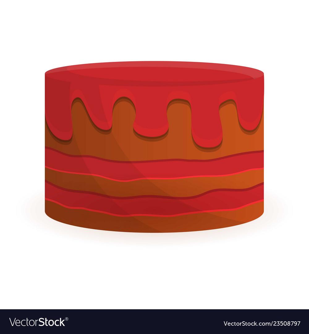Tasty Birthday Cake Icon Cartoon Style Vector Image