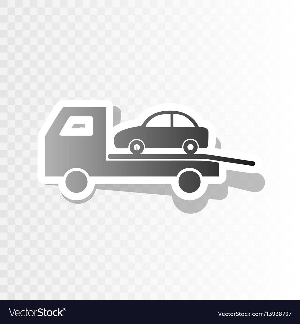 Tow car evacuation sign new year blackish vector image