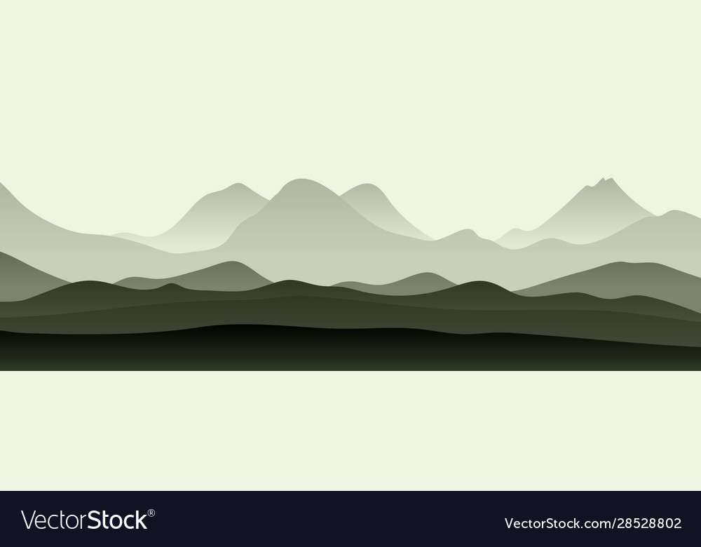 Abstract monochrome landscape