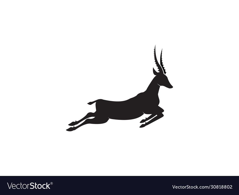 Gazelle silhouette jump black antelope run