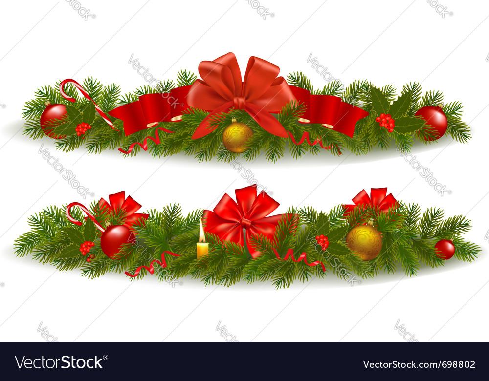 Christmas Garlands.Holiday Christmas Garlands