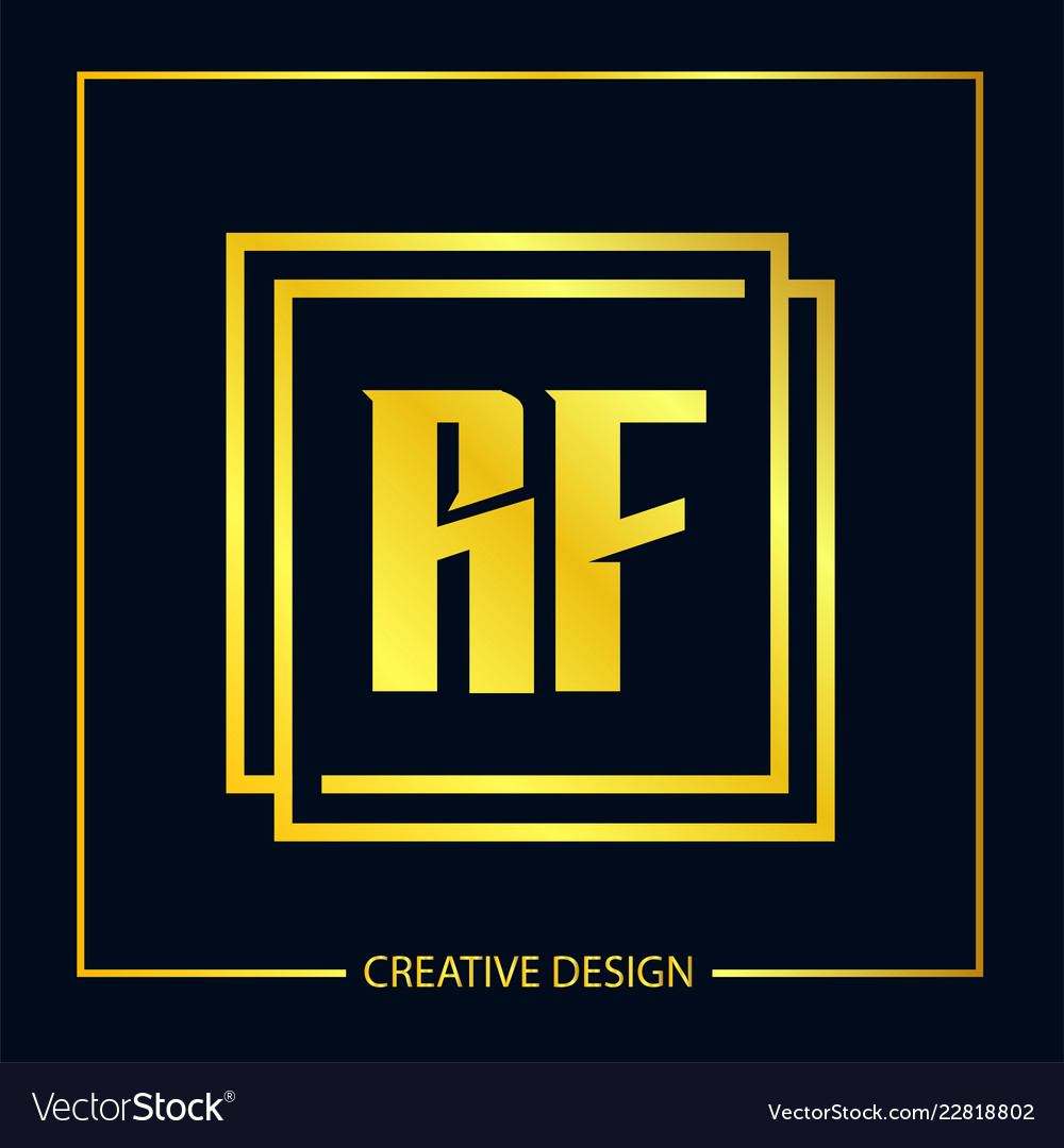 Initial letter rf logo template design vector image on VectorStock