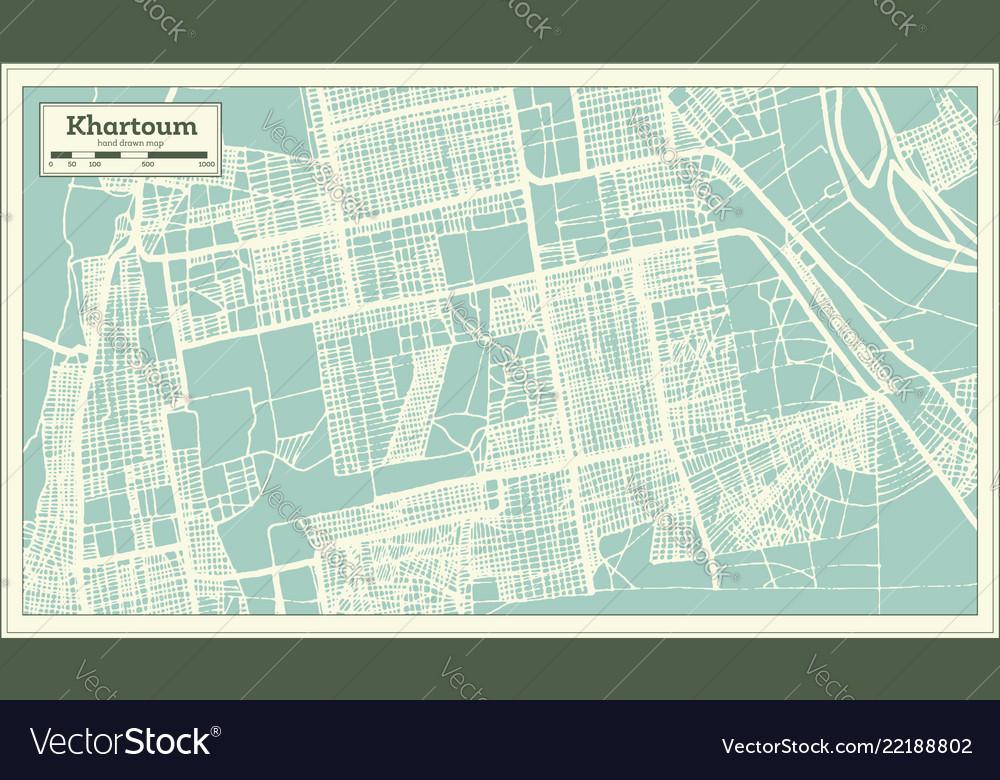 Khartoum sudan city map in retro style outline map vector image on damascus map, lake victoria map, casablanca map, tripoli map, kinshasa map, jerusalem map, cairo map, amman map, meroe map, monrovia map, windhoek map, juba map, bujumbura map, addis ababa map, yerevan map, nairobi map, asmara eritrea map, riyadh map, pretoria map, brazzaville map,