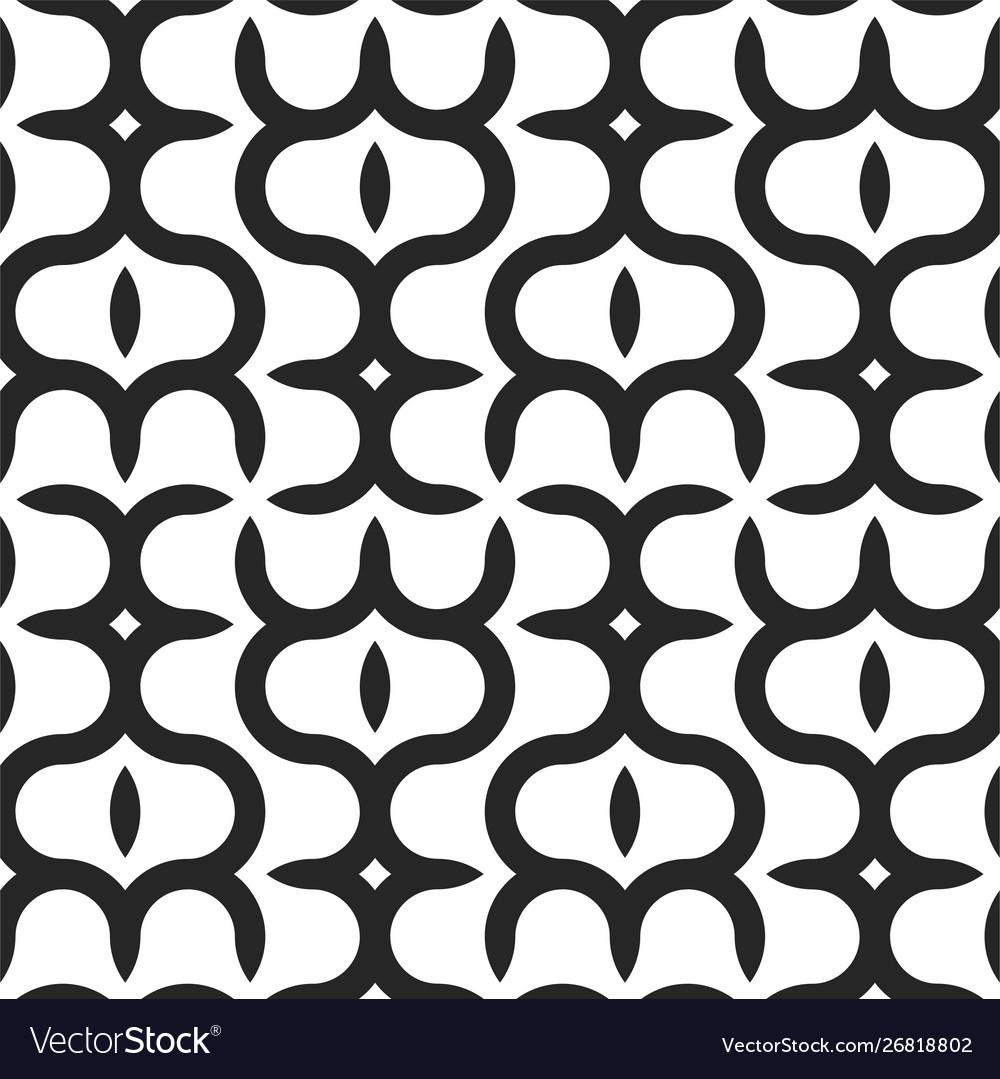 Seamless geometric pattern - modern black and
