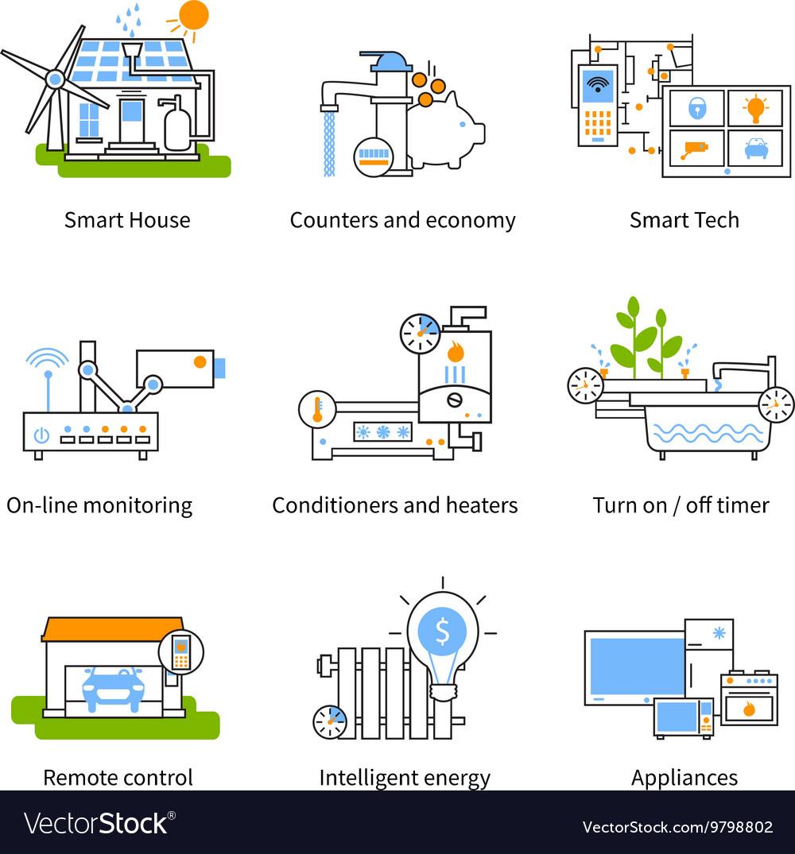 Smart House Concept Icon Set