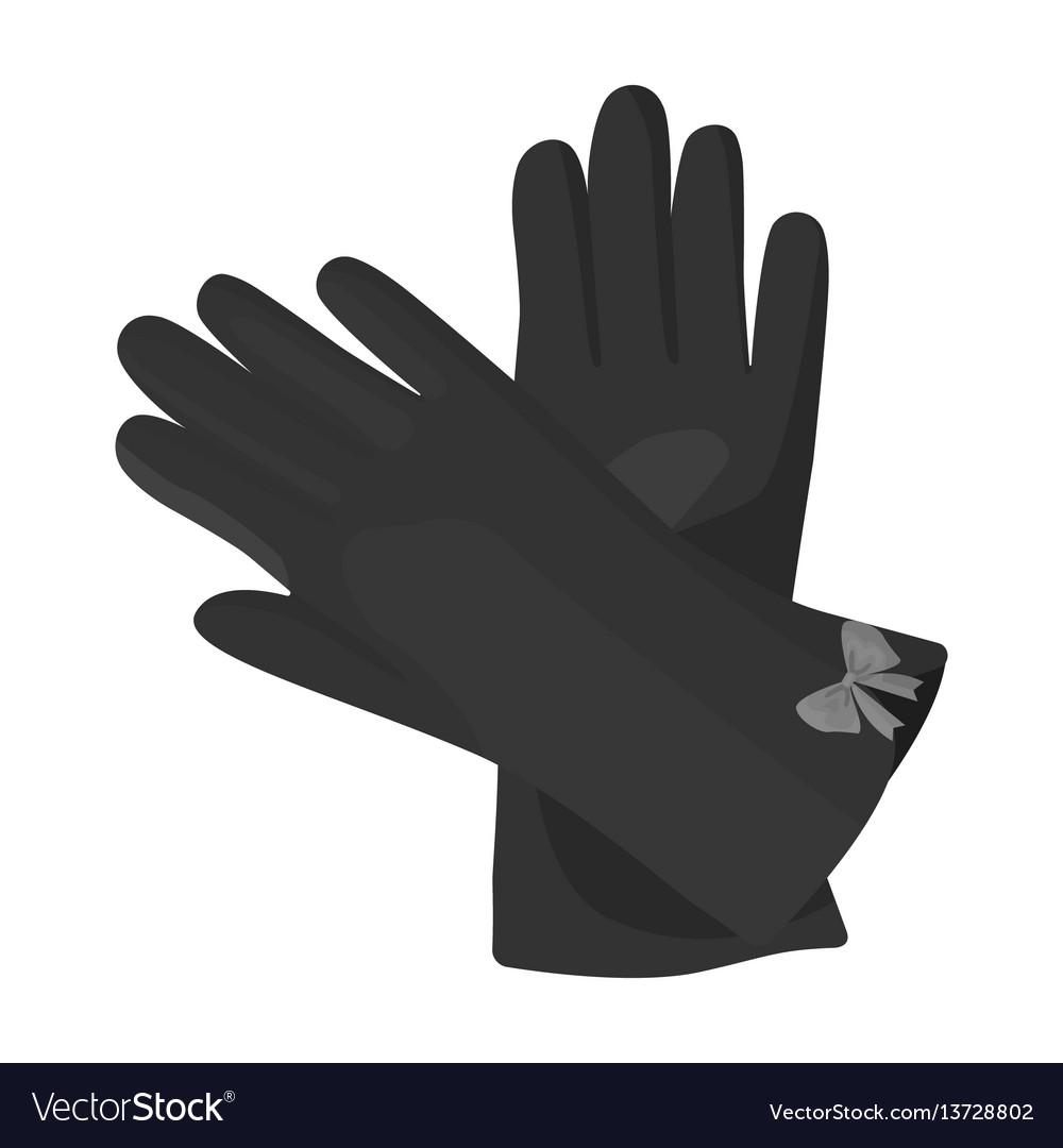 Warm burgundy gloves for hands female winter