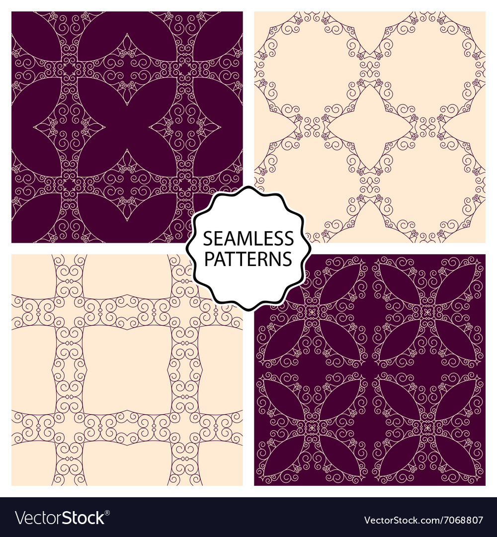 A set seamless patterns