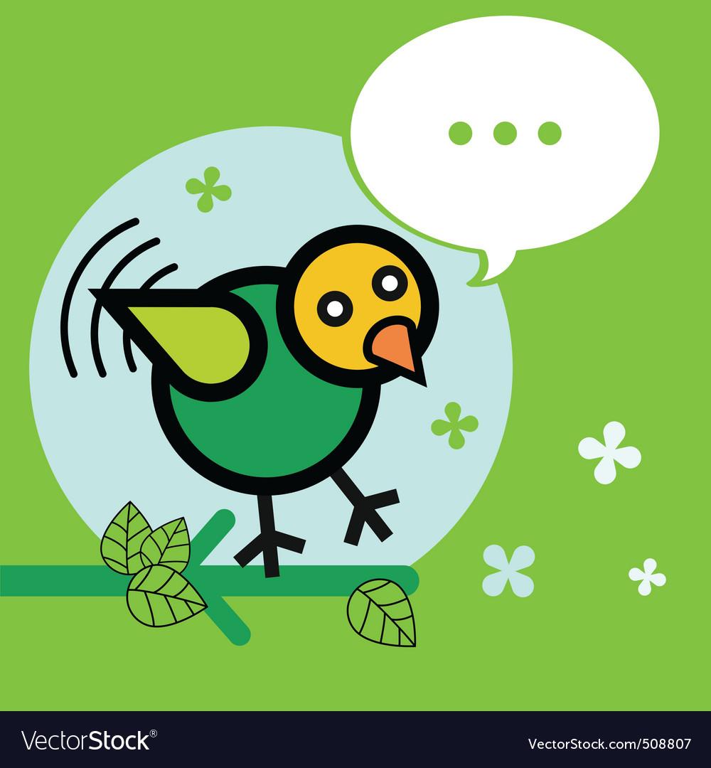 Bird twitter vector image