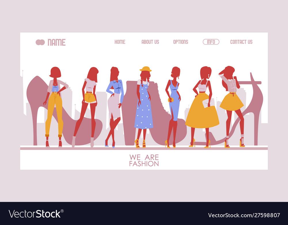 Fashion designer website template