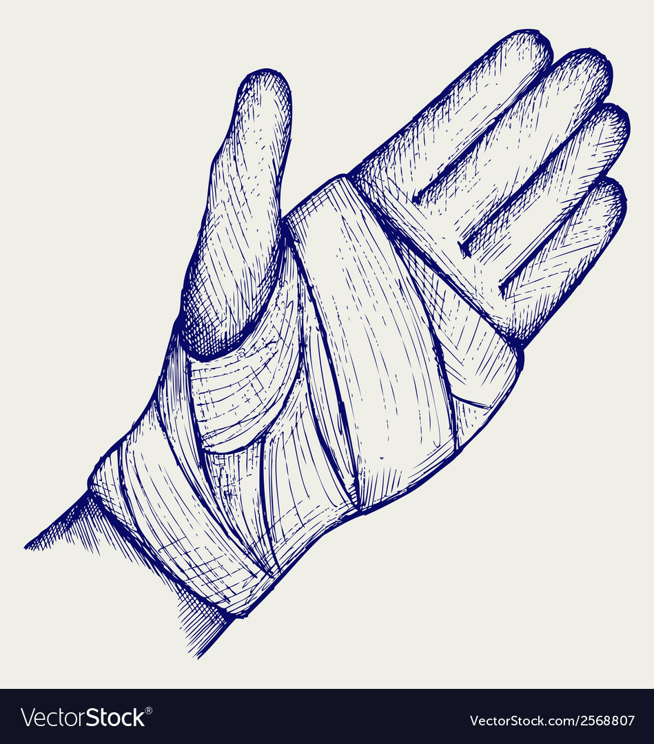 Hand Tied Elastic Bandage Royalty Free Vector Image