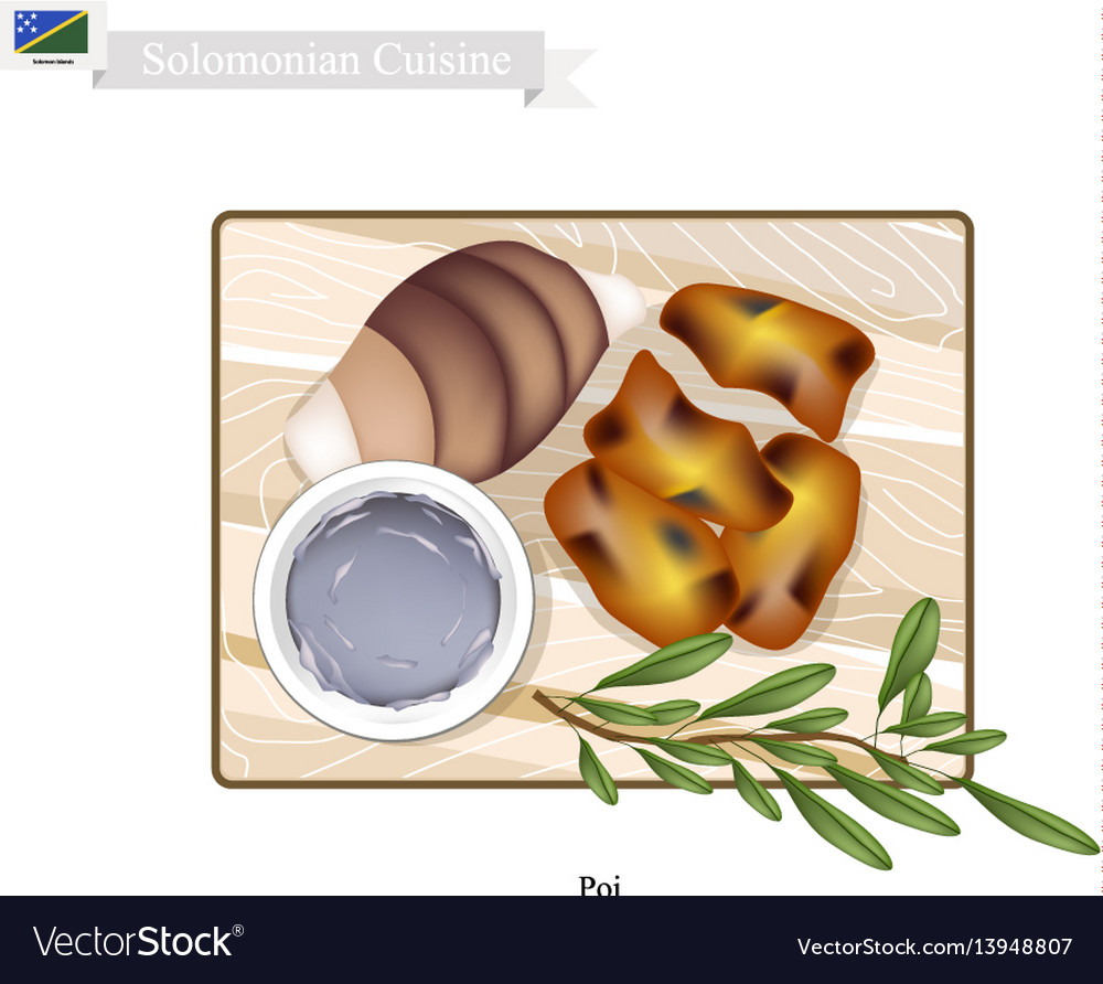 Poi or traditional solomonian soup vector image
