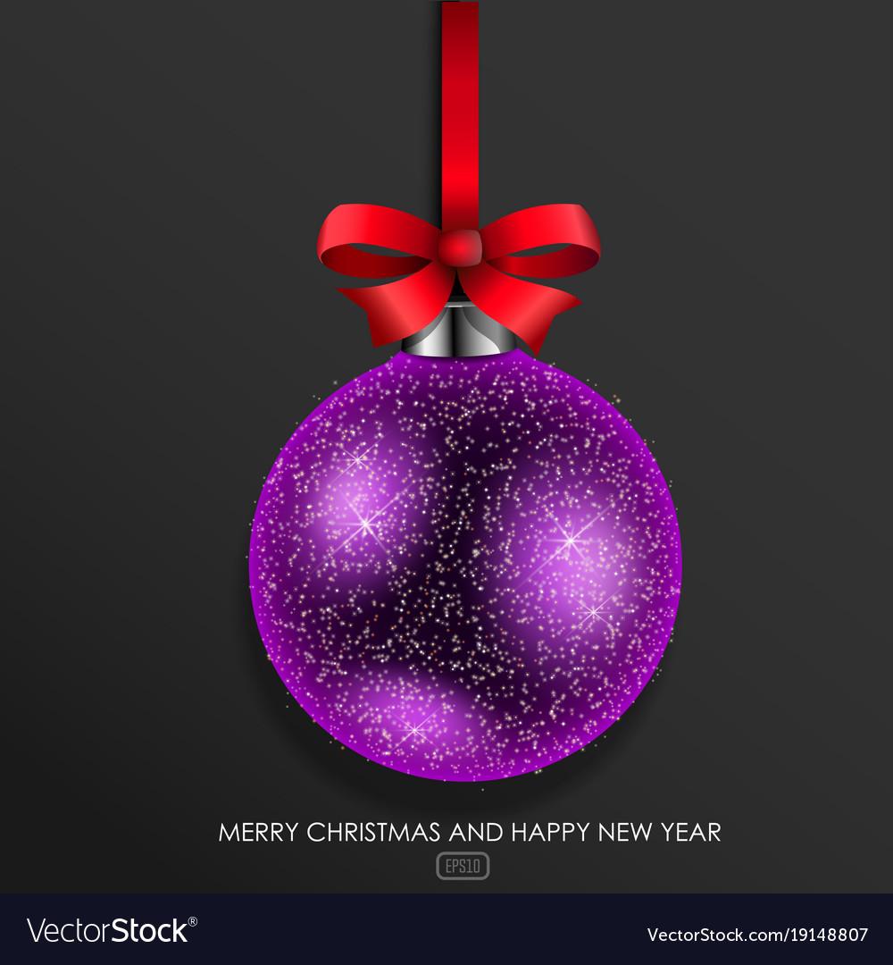 Purple glass christmas ball