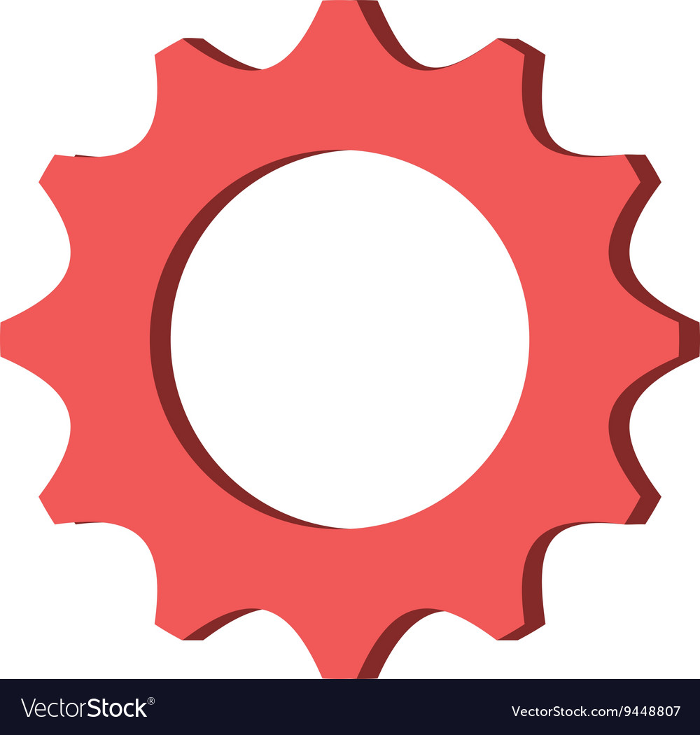 red gear icon royalty free vector image vectorstock rh vectorstock com gear icon vector free download gear icon vector ai