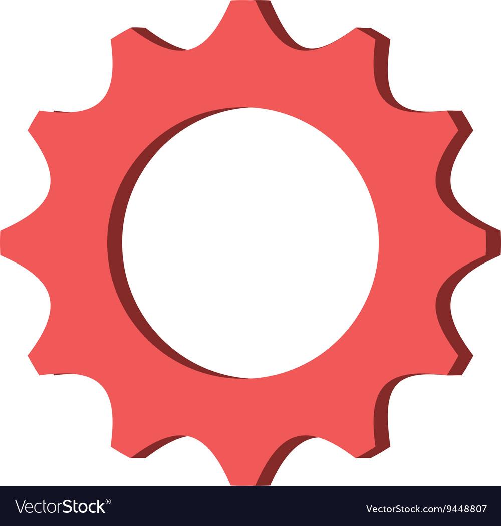 red gear icon royalty free vector image vectorstock rh vectorstock com settings gear icon vector