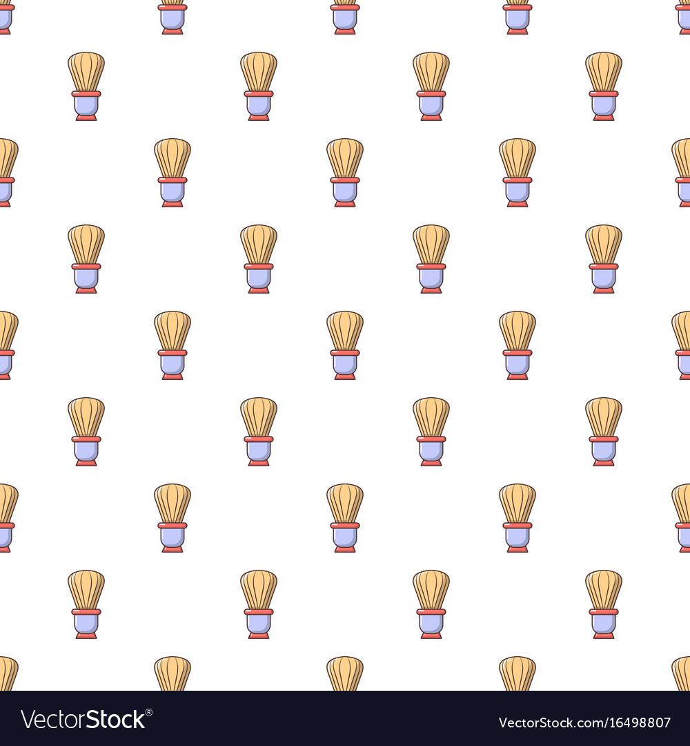 Shaving brush pattern seamless vector image