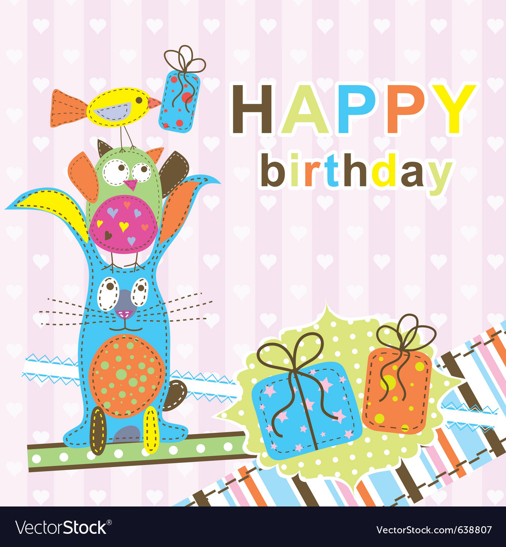 Template birthday greeting card vector 638807 by Tolchi
