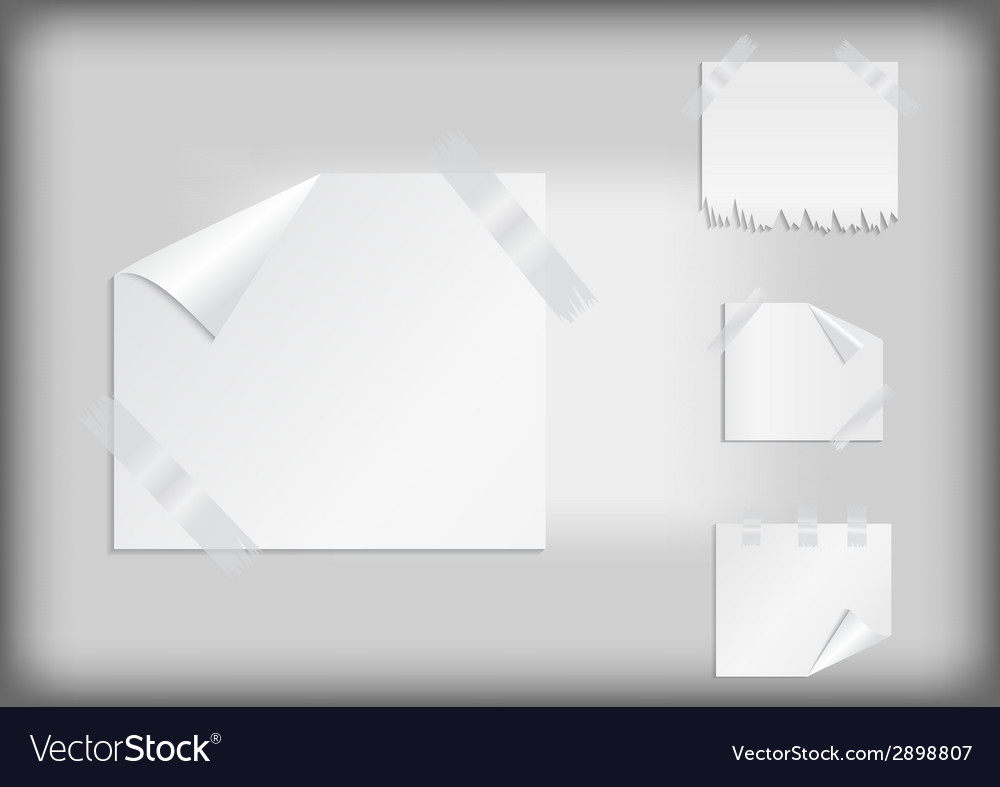 White stickers with scotch tape
