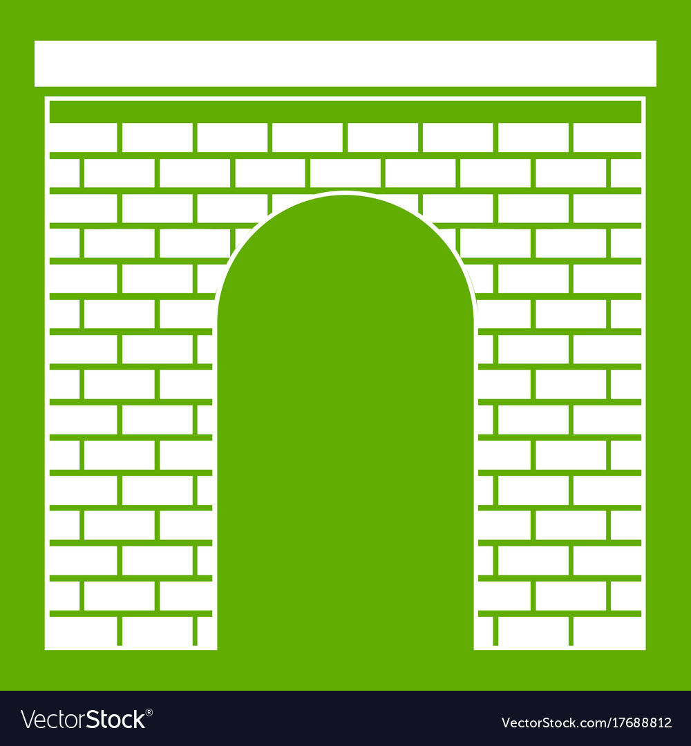 Arch icon green