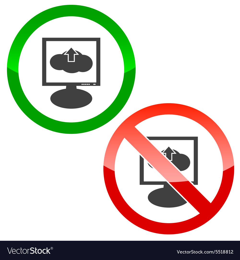 Cloud upload monitor permission signs