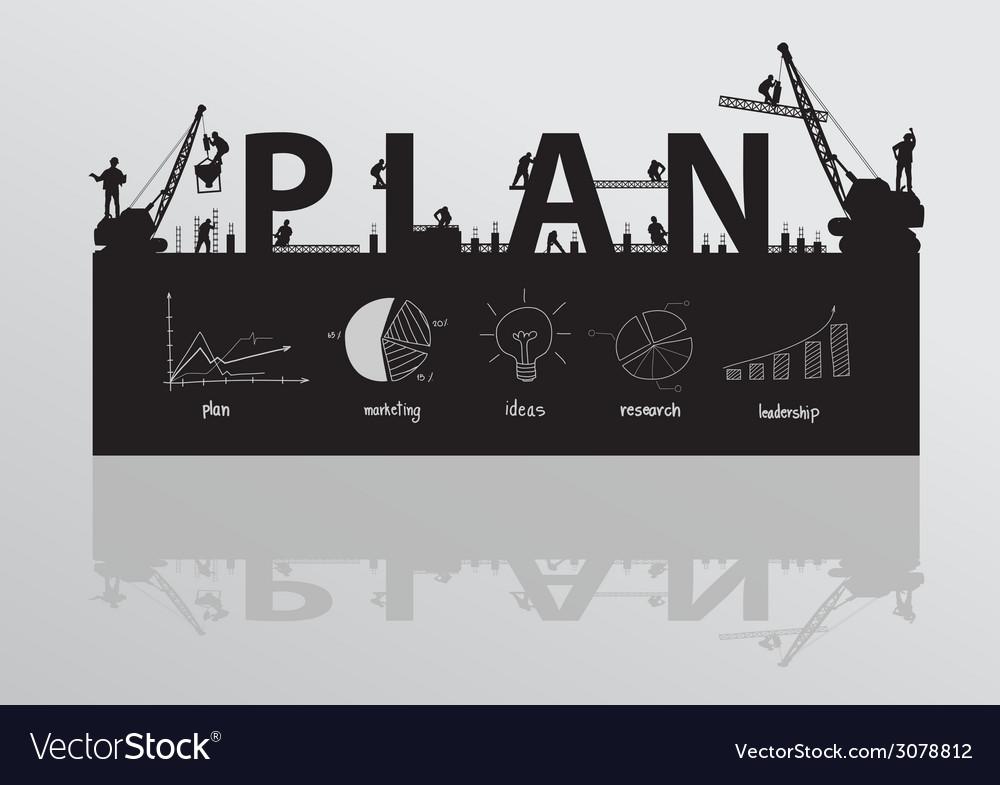 Construction site crane building plan text