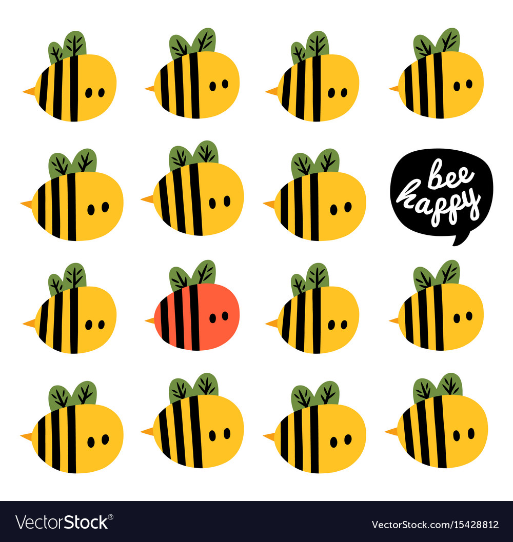 Greeting card with cartoon bees and beehive