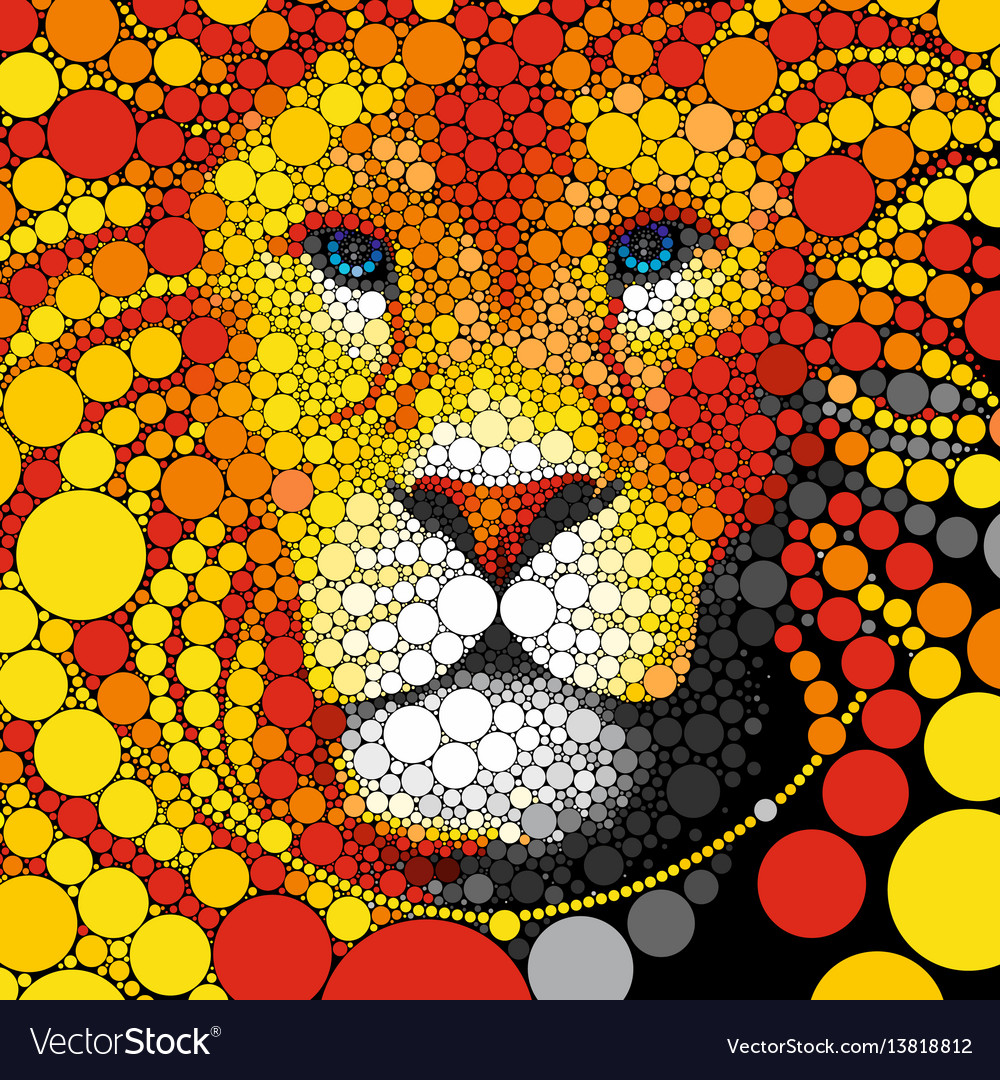 Lion abstract wild cat animal
