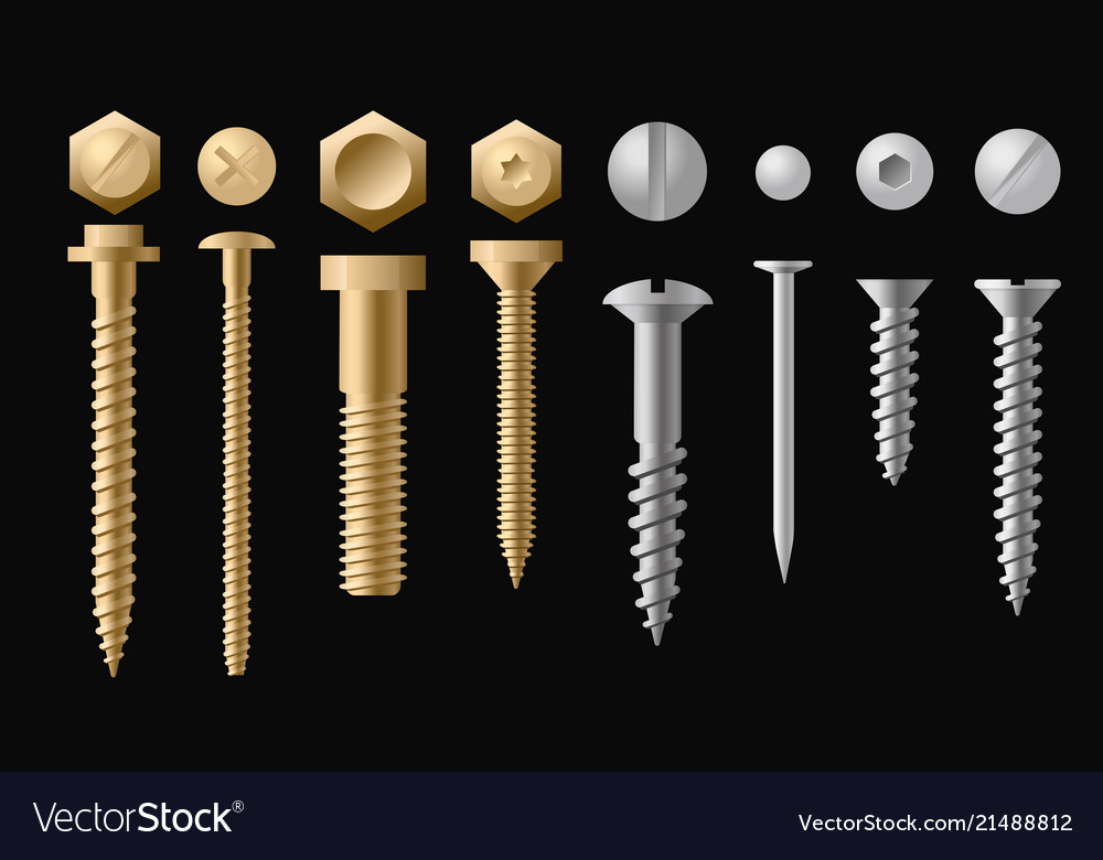 Set screws bolts nuts and