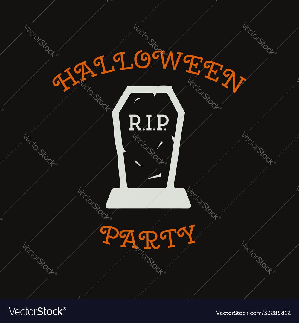 Vintage halloween typography badge graphics