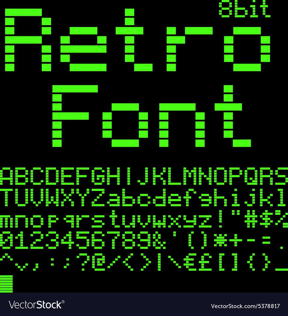 8 bit font vector image