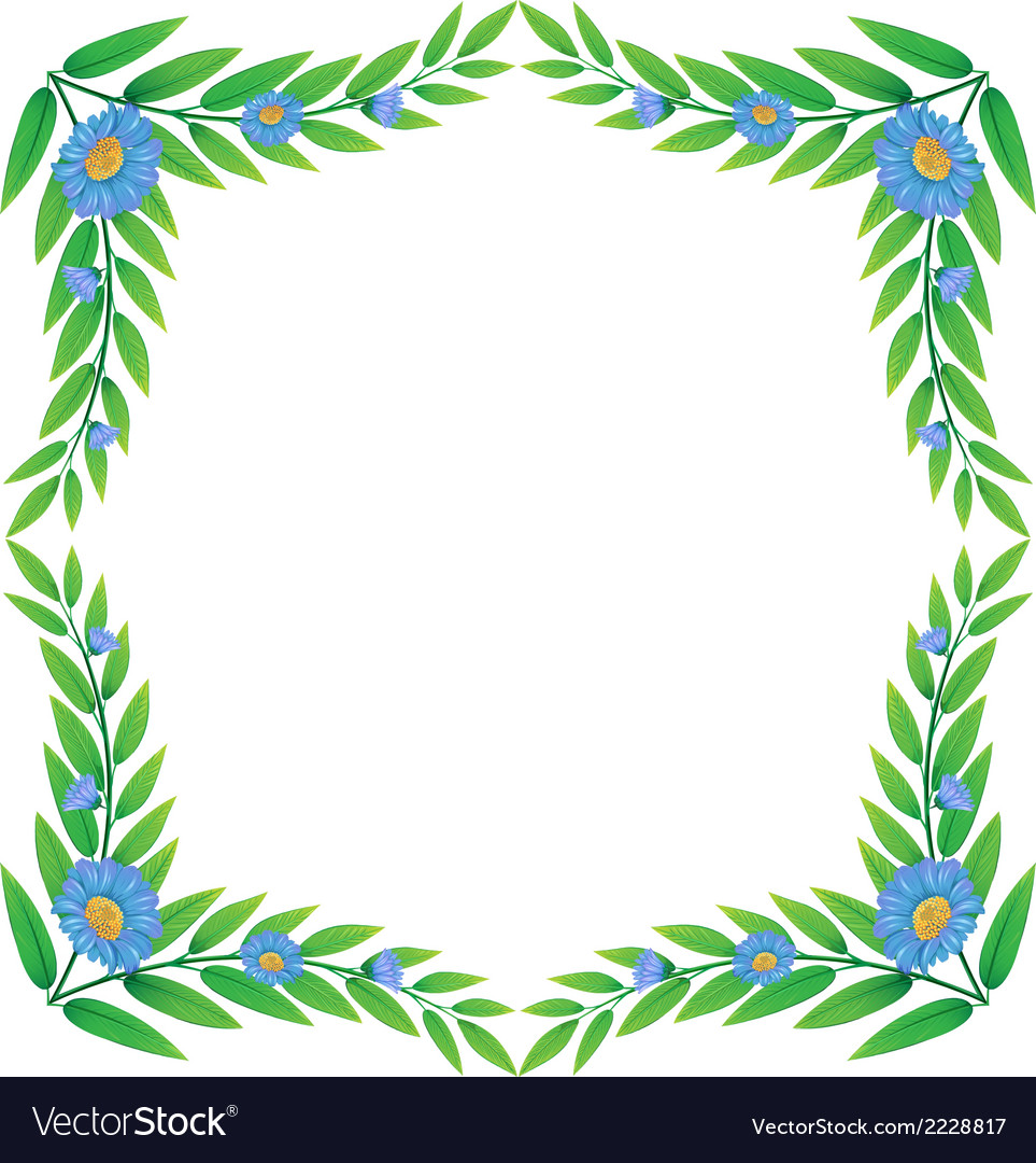 A frame made of green plants with flowers