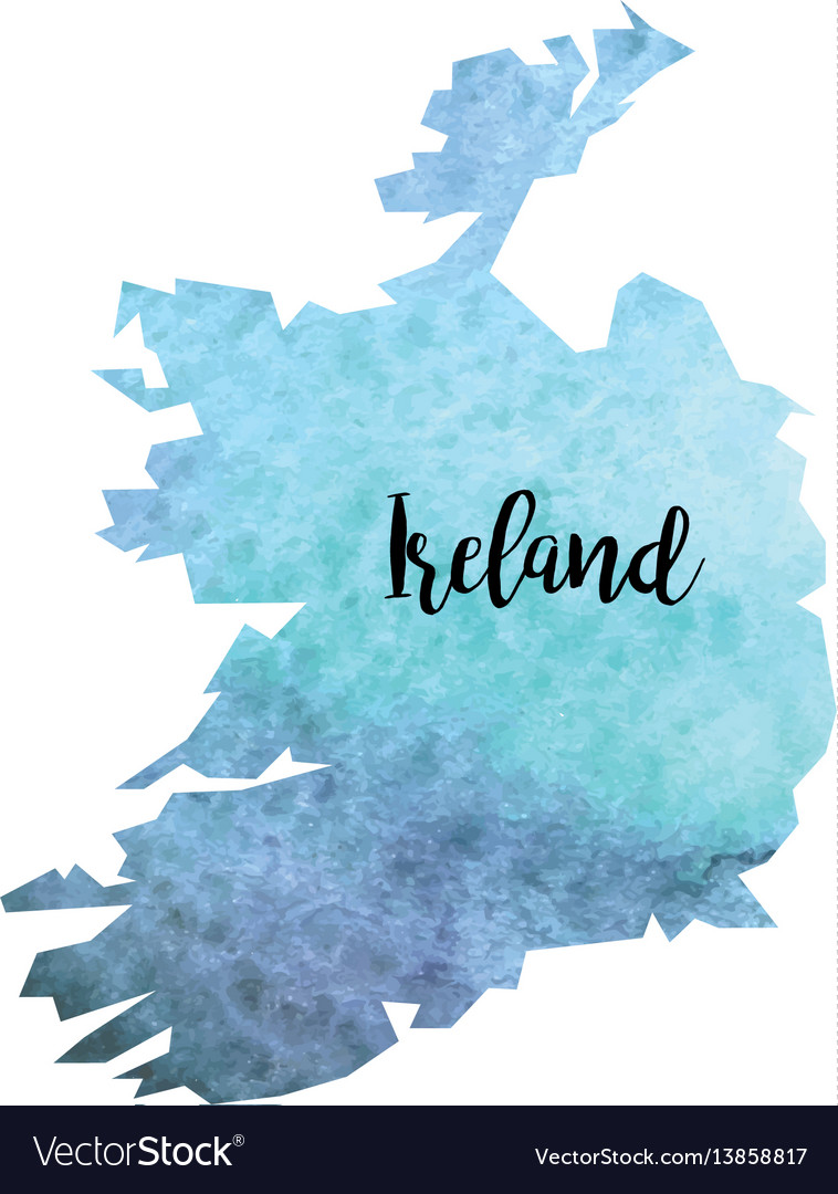 Map Of Ireland Vector.Abstract Ireland Map