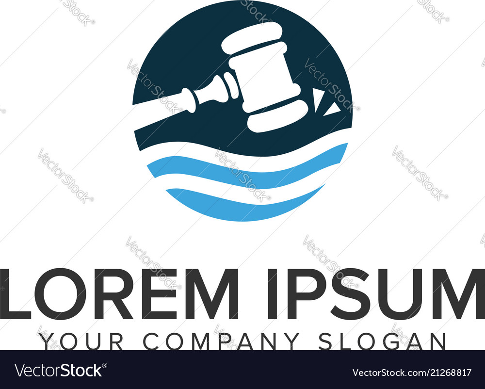 Hammer law logo design concept template