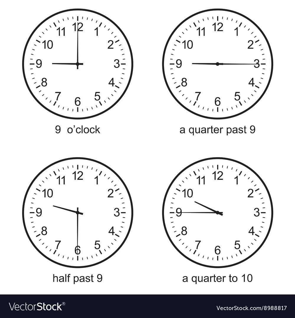 Learning Time Clock set