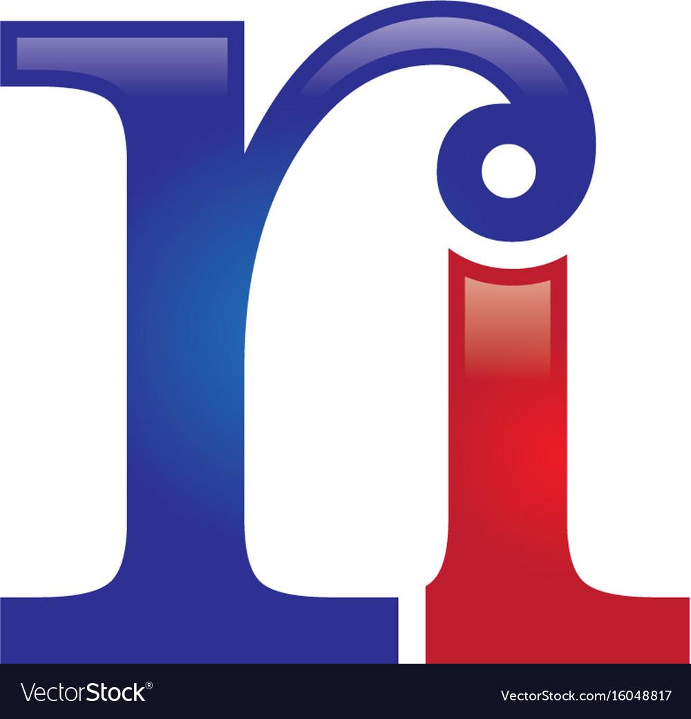 Ri letter logo