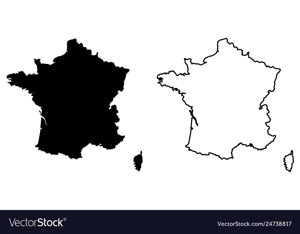 Map Of France Drawing.Simple Only Sharp Corners Map France Drawing