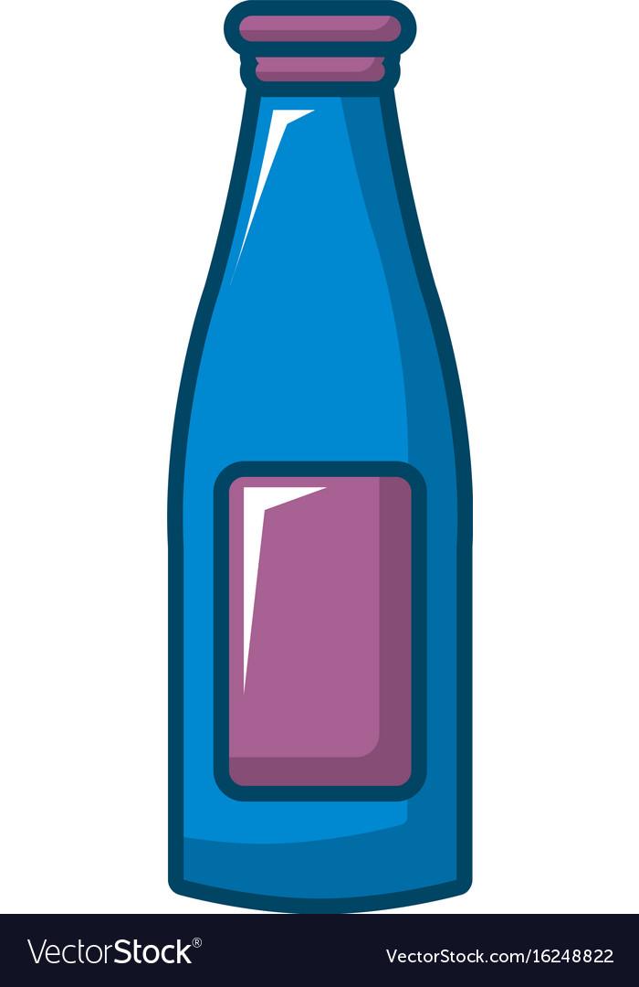 Bottle cream icon cartoon style