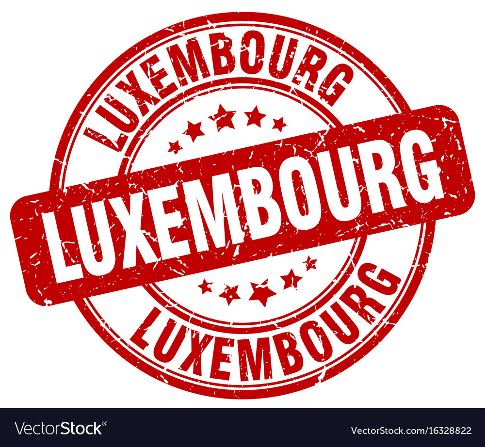 Luxembourg red grunge round vintage rubber stamp vector image
