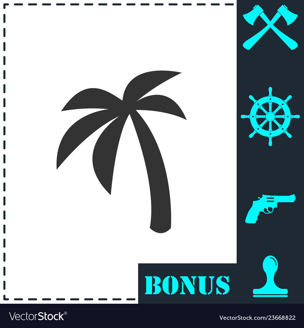 Palm icon flat