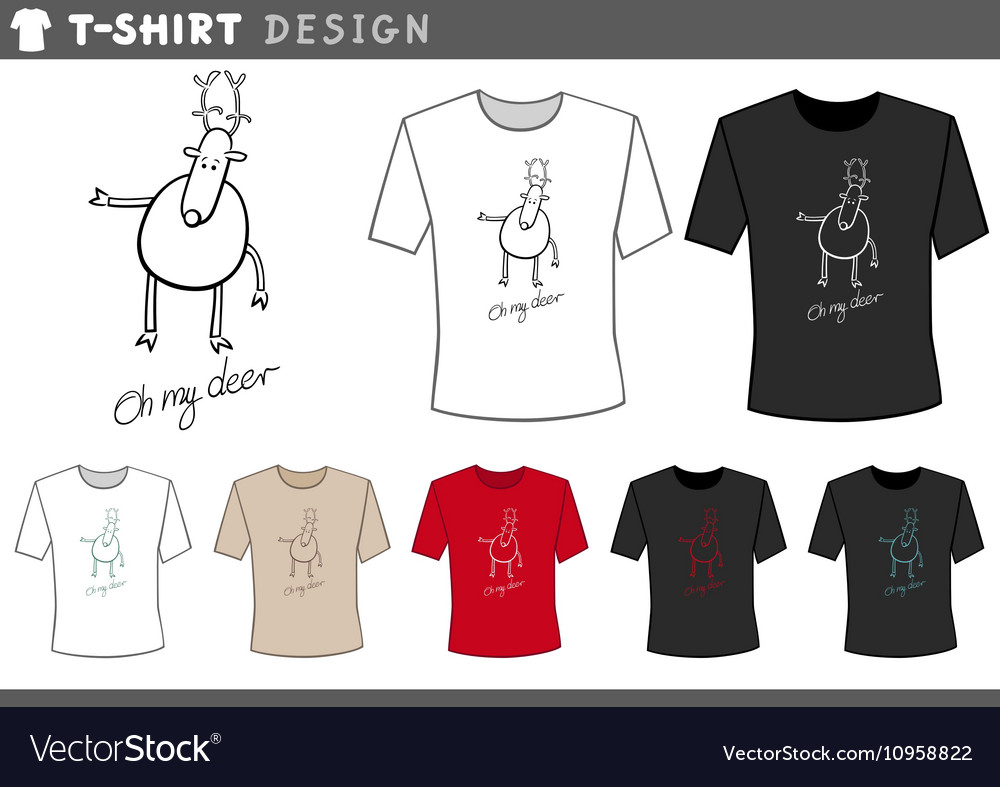 T shirt with cute deer vector image