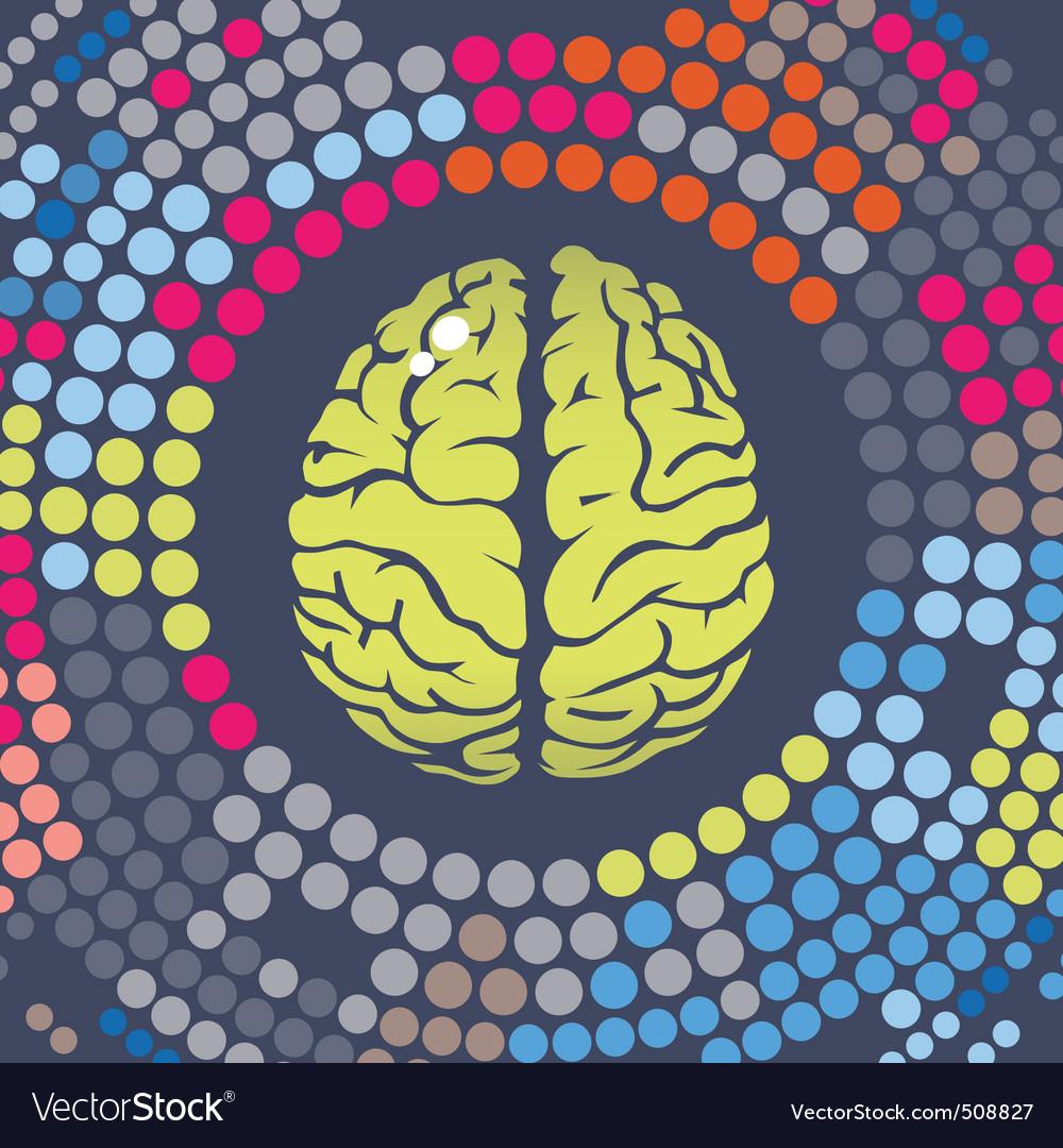 Brain summer point vector image