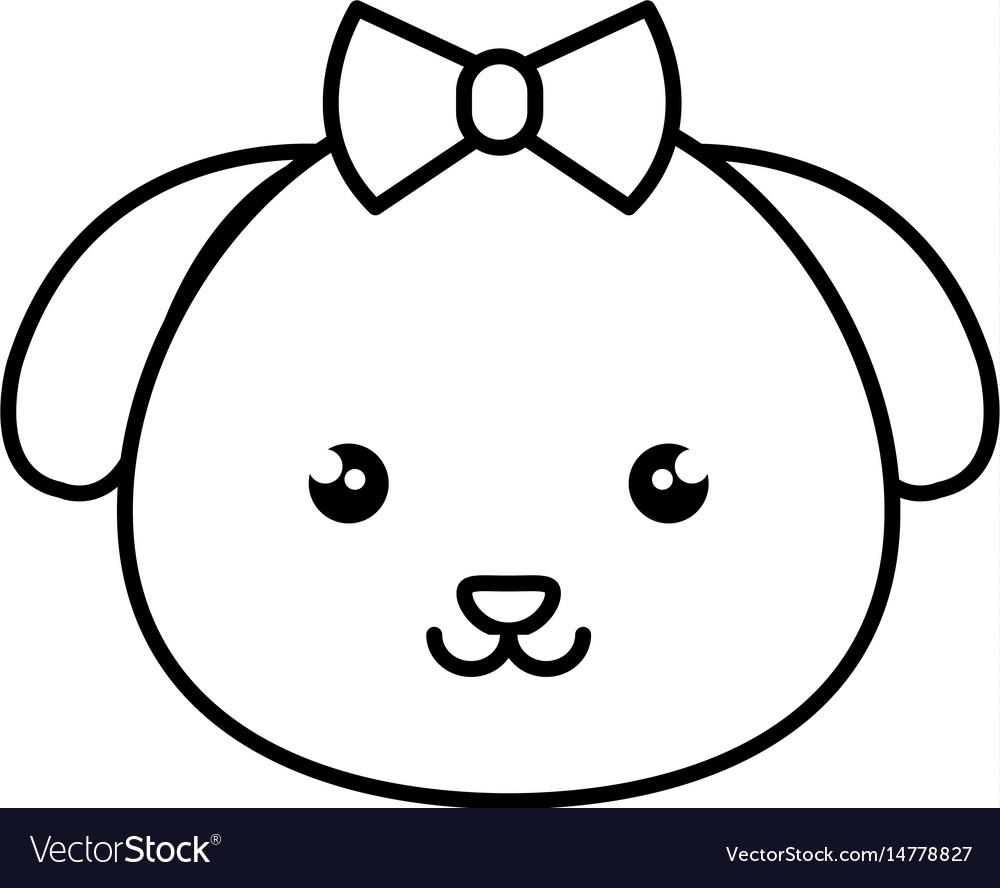 Cute and tender female dog kawaii style