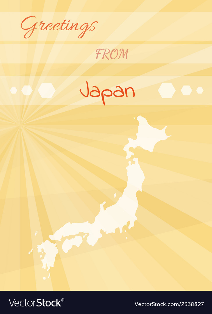 Greetings from japan royalty free vector image greetings from japan vector image m4hsunfo